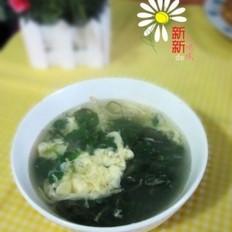 银鱼荠菜蛋花汤