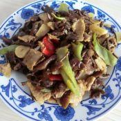 滑子菇炒肉片