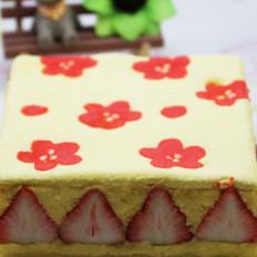草莓印花蛋糕