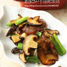 香菇青蒜炒腊肉