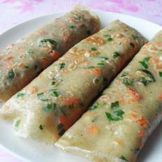 韭香胡萝卜藜麦鸡蛋饼