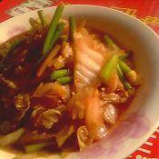 蒜薹炒白菜