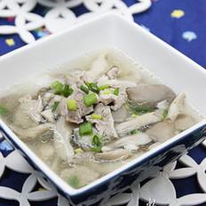 平菇肉片汤
