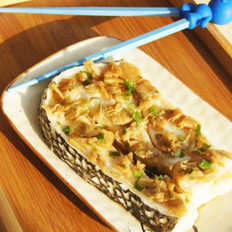 冬菜蒸银鳕鱼