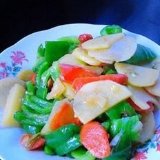 青椒胡萝卜土豆片