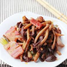 茶树菇炒咸肉