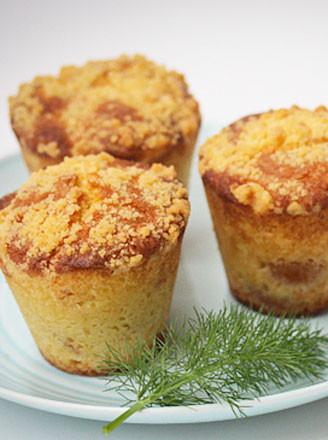糖渍金桔杏香松饼的做法