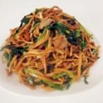 五香豆腐丝炒韭菜