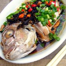 橄榄菜蒸鱼