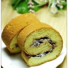 蜜豆奶油蛋糕卷