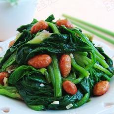 涼拌花生米菠菜