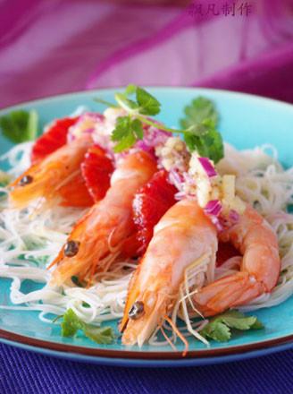 血橙大虾沙律的做法