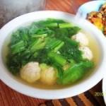 芥菜丸子汤的做法