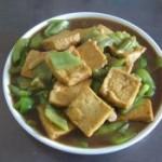 蚝油豆腐丝瓜