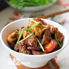 油豆腐泡燒牛肉