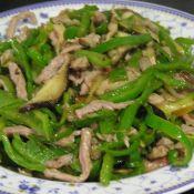 青椒香菇炒肉丝