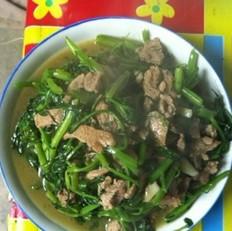 空心菜炒肉