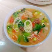 茄香芥菜高汤煮面