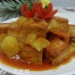 菠萝咕噜豆腐