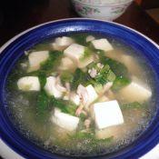 生菜豆腐肉丝汤