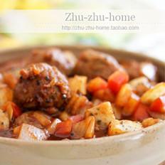 火龍果番茄牛肉丸