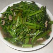 水芹菜炒肉片