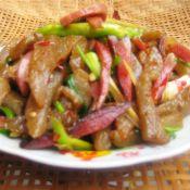 魔芋豆腐炒腊肉