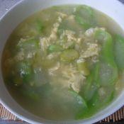 丝瓜豆瓣蛋花汤的做法
