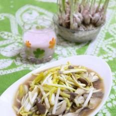 蘑菇炒蒜黄