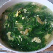 鸡毛菜榨菜蛋花汤