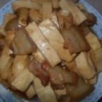 豆腐干炒五花肉