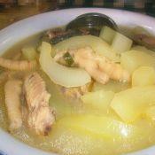 鸡烧老黄瓜汤