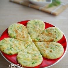 青椒虾皮鸡蛋饼