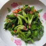 菠菜胡萝卜炒肉