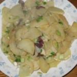 土豆炒蒜苗