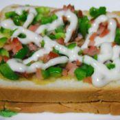 沙拉火腿夹心面包片