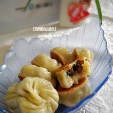 韭菜烤肉水煎包