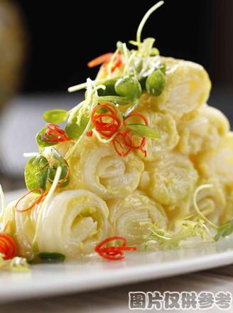 芥末白菜的做法