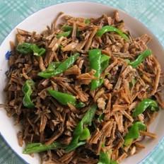 青椒炒干豇豆