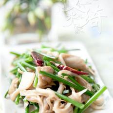 平菇炒韭苔