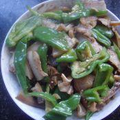 青椒炒猪头肉