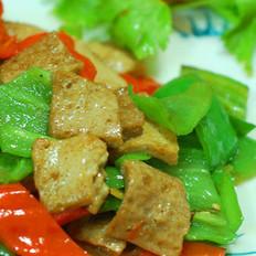 青椒炒青岩豆腐