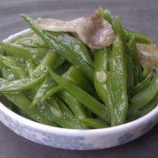 刀豆炒肉片