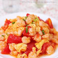 蕃茄鸡蛋炒虾仁
