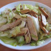 五香干炒包菜