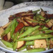 豆腐干炒四季豆