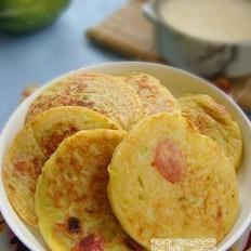 南瓜香肠鸡蛋饼