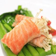 三文鱼芥蓝金针菇