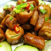 卤炒猪大肠
