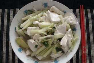 蒲菜豆腐的做法